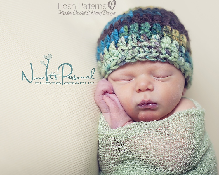 Crochet Baby Hat Pattern Beginner : Crochet Hat Pattern Simple Easy Beginner Beanie Crochet ...