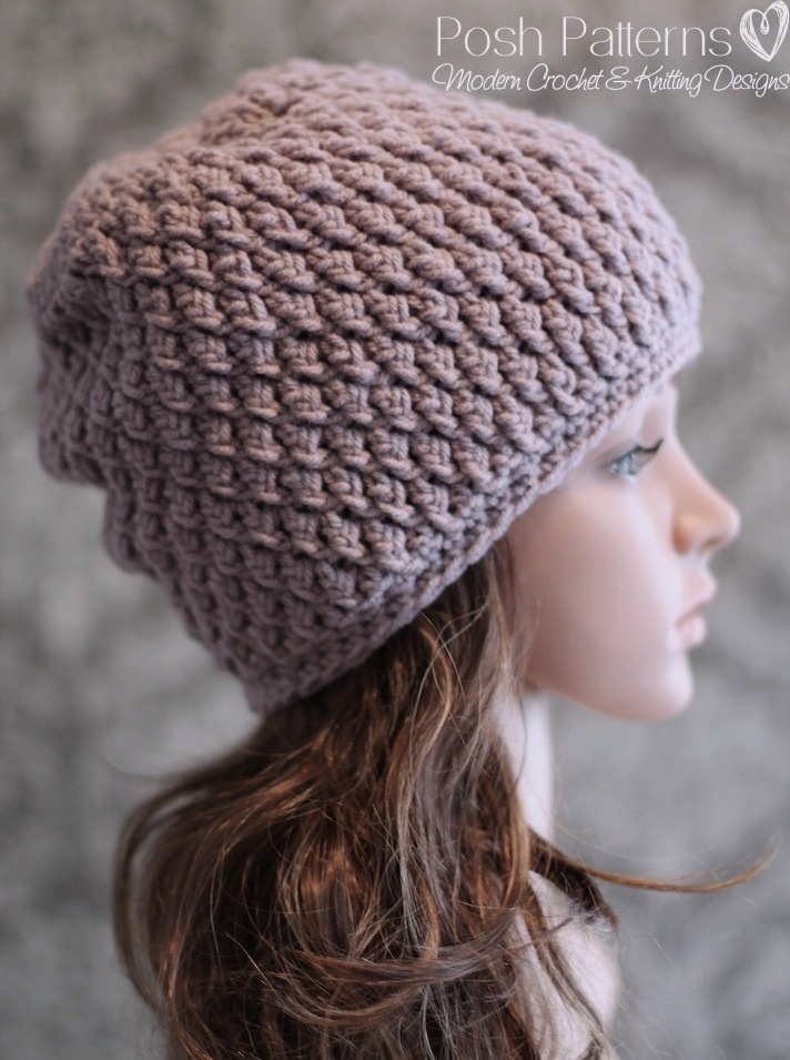 Crochet Pattern Hat Beanie : Crochet Hat Pattern - Faux Cable Crochet Beanie Crochet ...
