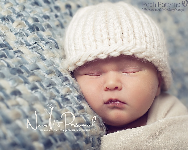Knitting Pattern - Easy Knit Baby Beanie Hat PDF 227 - Includes 6 Sizes Newbo...