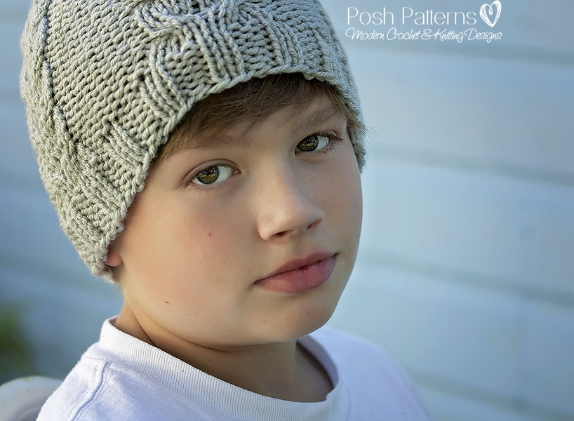 Knitting Patterns Baby Cable Hats : Knitting Pattern - Knit Cable Hat - Includes Baby, Toddler, Child, Adult Size...